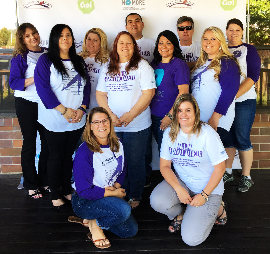 Operation Care staff are turning the Golden State PURPLE during October - Domestic Violence Awareness Month.